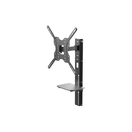 Monoprice Full Motion Wall Mount Bracket with height adjustment Support Shelf for Medium 32~55in TVs up to 66