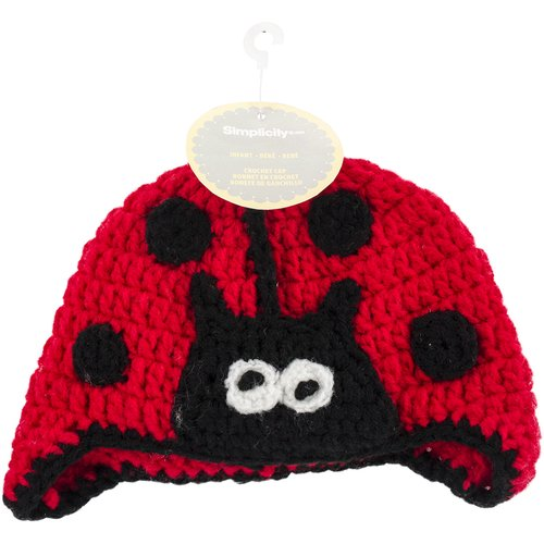 Crocheted Hats For Babies, Lady Bug