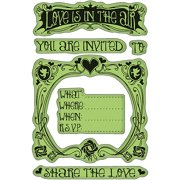 "Inkadinkado Valentine Cling Stamps 4"" x 6"" Sheet, Valentine Party Invite"