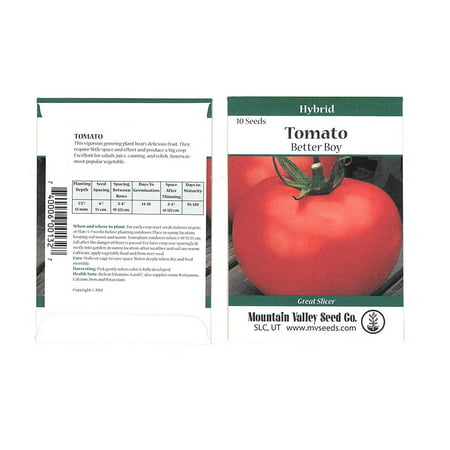 - Tomato Garden Seeds - Better Boy Hybrid -10 Seed Packet - Non-GMO, Vegetable Gardening Seed