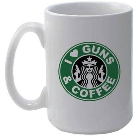 I Love Guns and Coffee Classic Coffee Mug