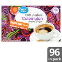 96-Count 100% Arabica Colombian Medium Dark Roast Ground Coffee Pods