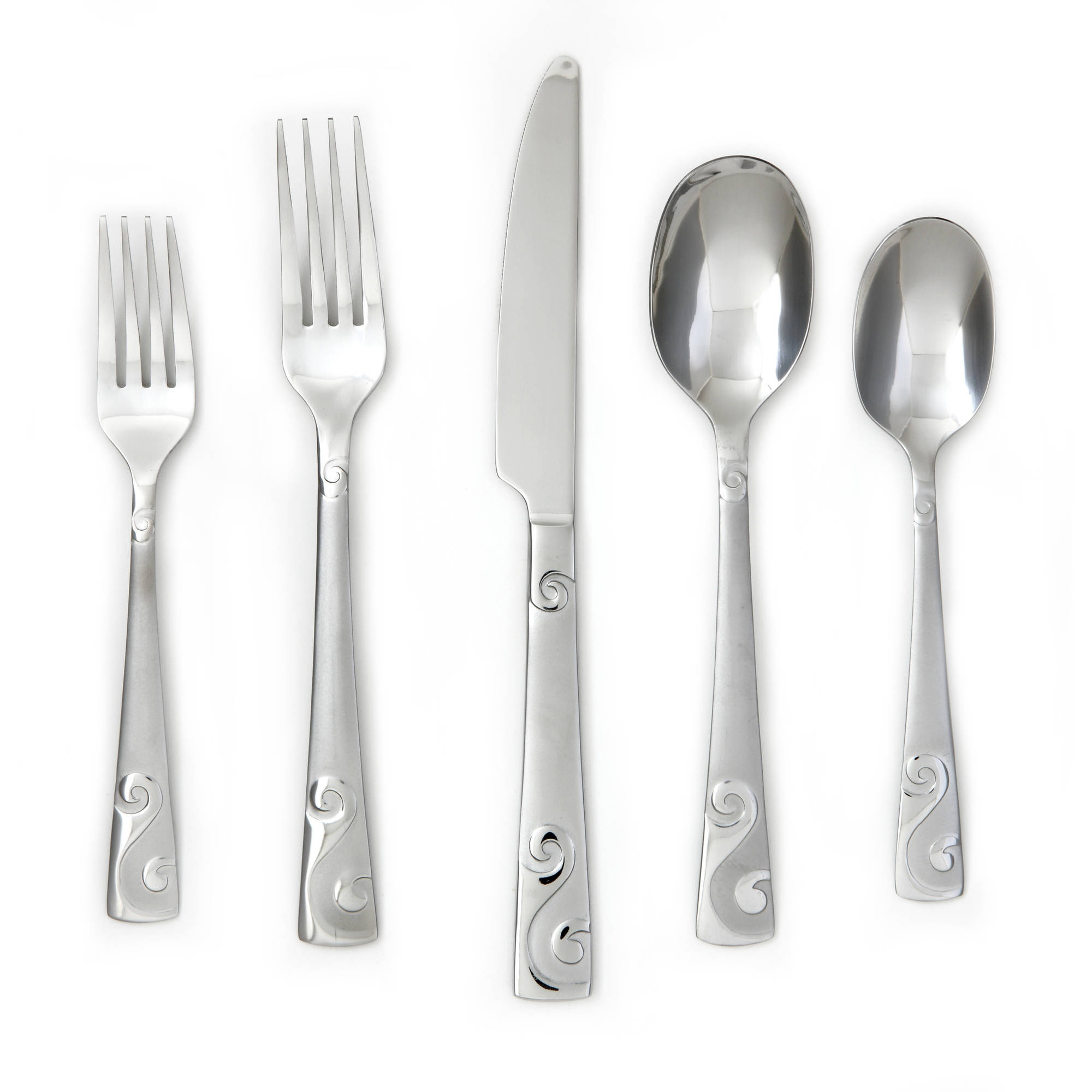 Cambridge Sandscript Frost 36-Piece Flatware Set
