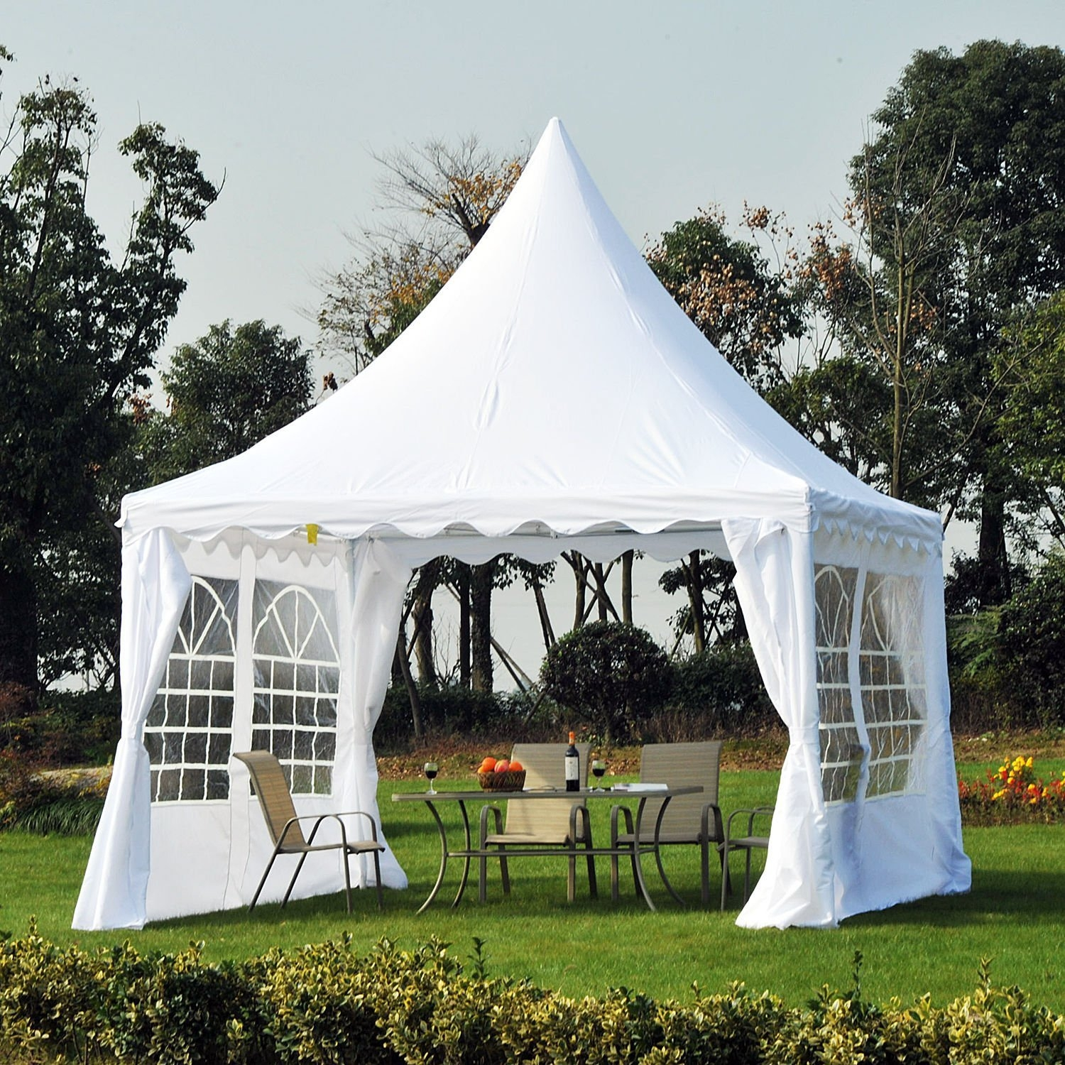 New MTN-G 12'x12' Marquee Party Tent Garden Gazebo Canopy Pagoda Wedding