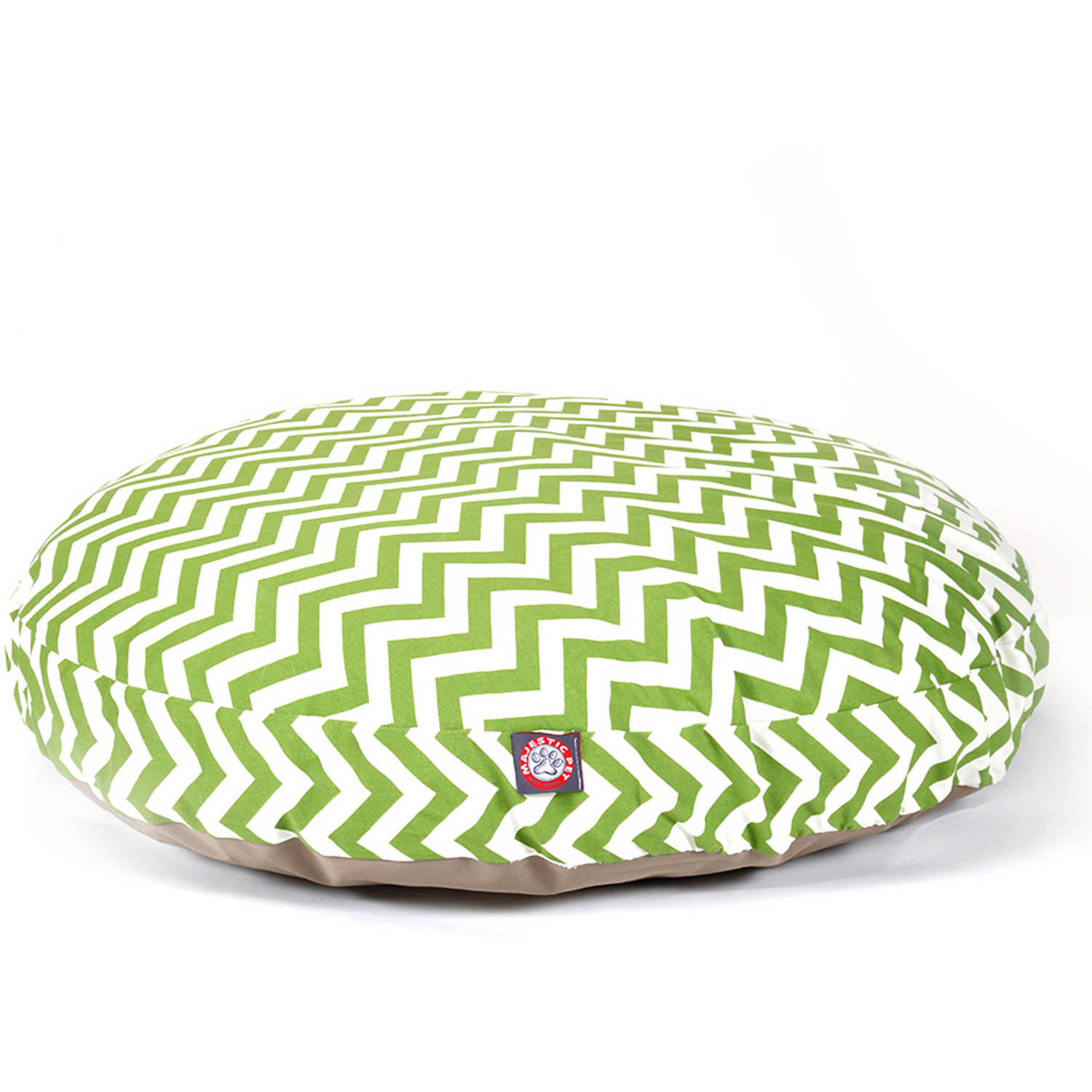 Majestic Pet Products Chevron Round Outdoor Indoor Pet Bed Removable Cover