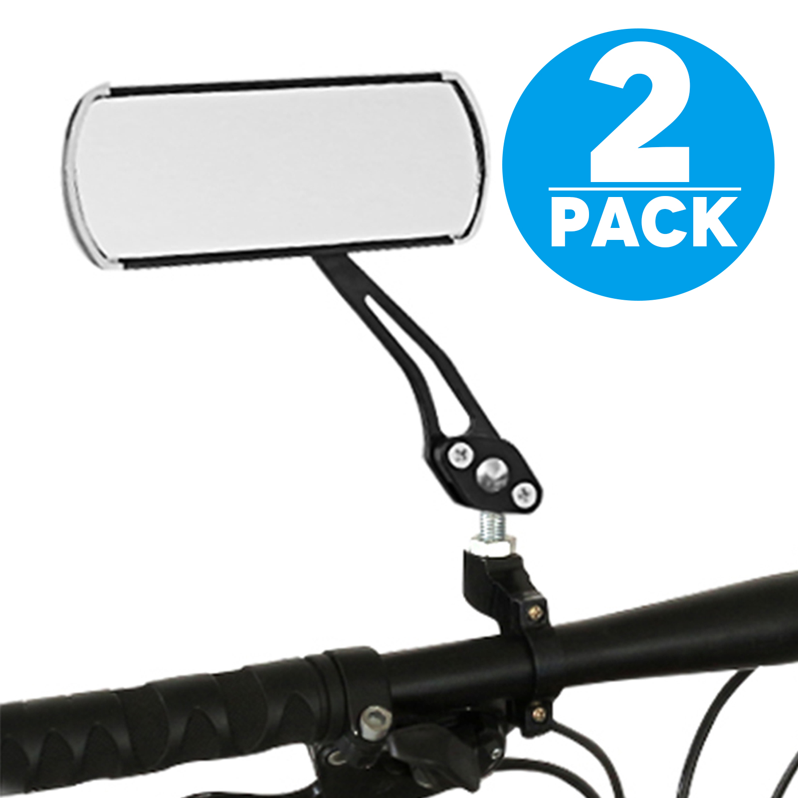 TSV Pair Bike Glass Mirror Universal Adjustable Rotatable Safe Rearview, HD, Blast-resistant, Car Used Safe Glass Lens for Mountain Bicycle Electric Bike Cycling