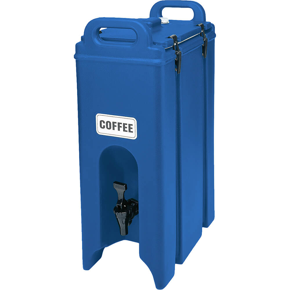 Cambro 4.75 Gal. Insulated Beverage Dispenser, Navy Blue, 500LCD-186
