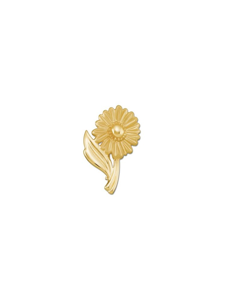10k Yellow Gold Floral-Inspired Polished Brooch by
