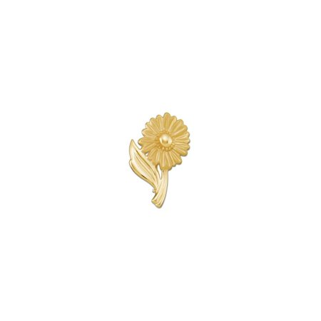 10k Yellow Gold Floral-Inspired Polished Brooch (10k Brooch)