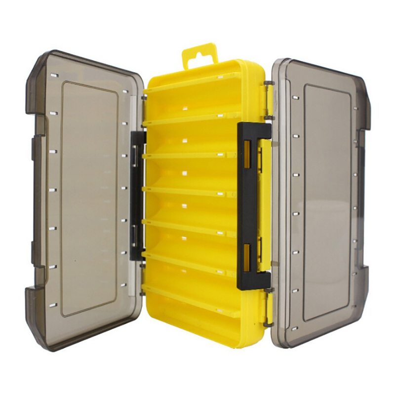 Portable Waterproof Double-sided Fishing Tackle Box Fishing Lure Storage Case