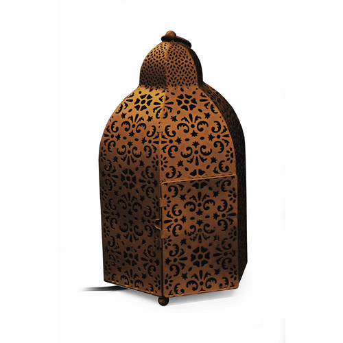 Click here to buy Better Homes And Gardens Metal Lantern Lamp, Bronze by Generic.