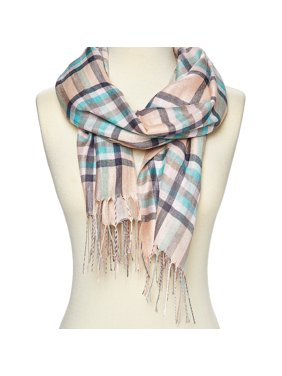 Teal Scarfs for Women Plaid Winter Fashion Scarfs for Neck Blacket Warm Scarves Shawl Wrap for Gift Accessories by Oussum