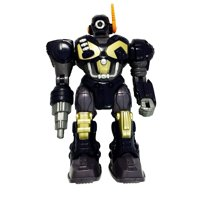 M.A.R.S. Motorized Walking Cyber Bot Attack Robot Dark Blue w/Bronze/gold - Polar Captain, Robotic Defense Drill By Cybotronix Ship from US