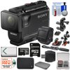 Sony Action Cam HDR-AS50R Wi-Fi HD Video Camera Camcorder & Live View Remote + 32GB Card + Battery + Case + 2 Helmet & Handlebar Bike Mounts Kit