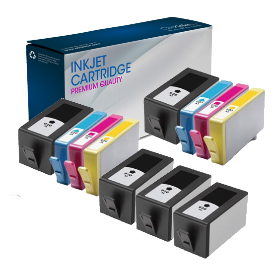 11 Pack HP Remanufactured 920XL BK/C/M/Y High Capacity Inkjet Cartridges for HP Officejet 6500 All-in-One Printer-E709c Printer