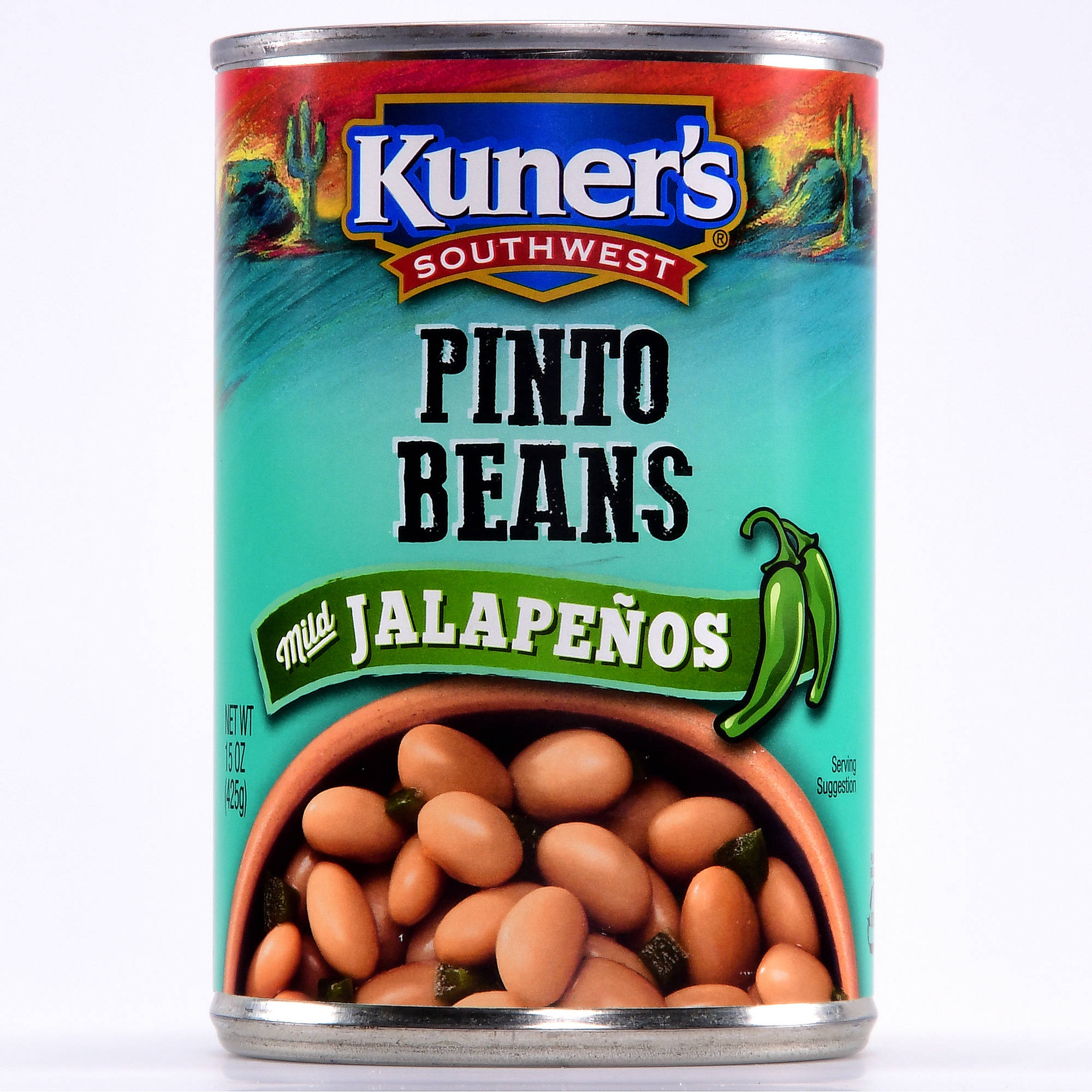 Kuner's Southwestern Pinto With Jalapenos Beans, 15 oz