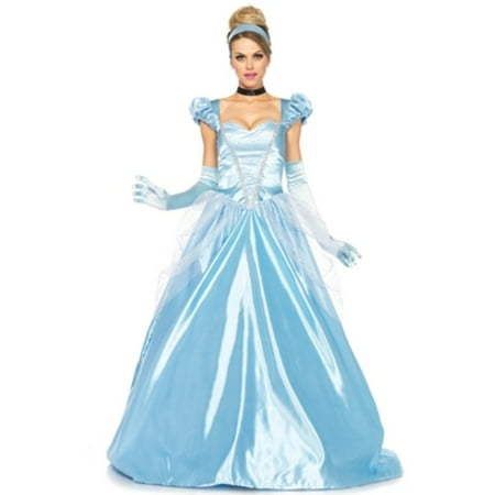 Leg Avenue 3Pc. Classic Cinderella Costume, Blue, Small - Blue Devil Costume