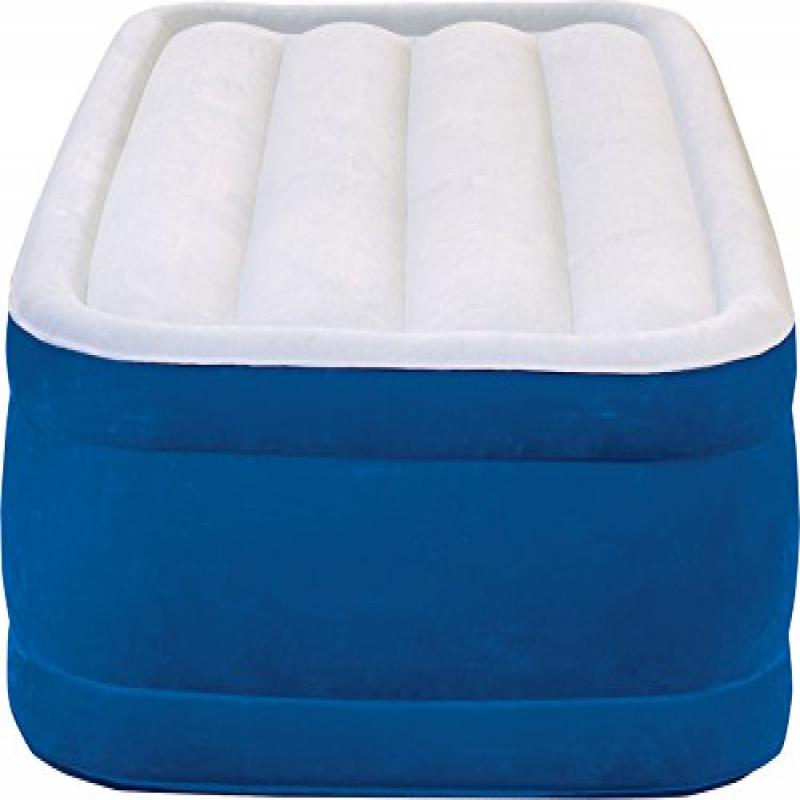 Simmons Beautyrest Plush Aire Inflatable Air Mattress: Raised-Profile Air Bed with External Pump, Twin by