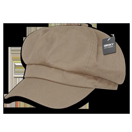 DECKY Applejack Newsboy Cabbie Driving Ivys Hat Hats Cap For Men Women Khaki - Applejack Hat