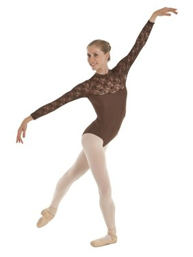 3e1d1b2c8c Product Image Sansha Womens Cocoa Mock Turtleneck Lace Sleeve Temora Dance  Leotard M