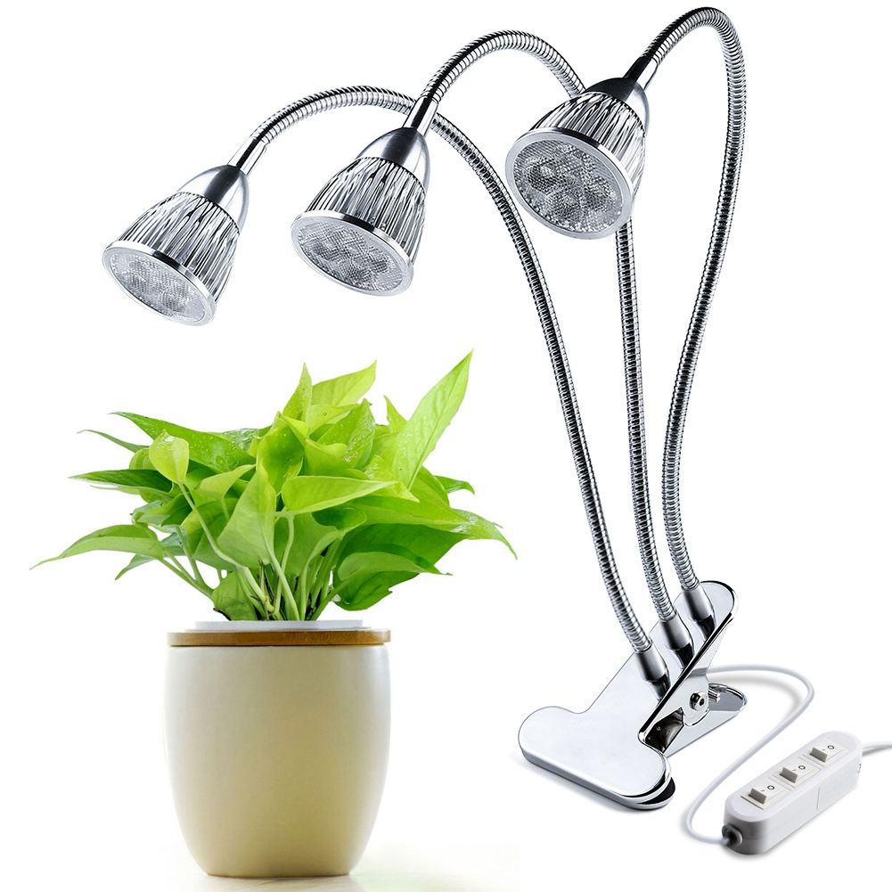 LED plant Grow Light Lamp Growth Holder Desk Clip Flexible Hydroponic System