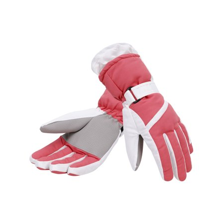 Simplicity Women's Thinsulate Lined Waterproof Outdoor Ski Gloves, S, Rose (Line Ski Clothing)