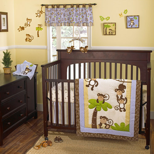 CoCaLo CoCo & Company Monkey Time 4-Piece Crib Bedding Set