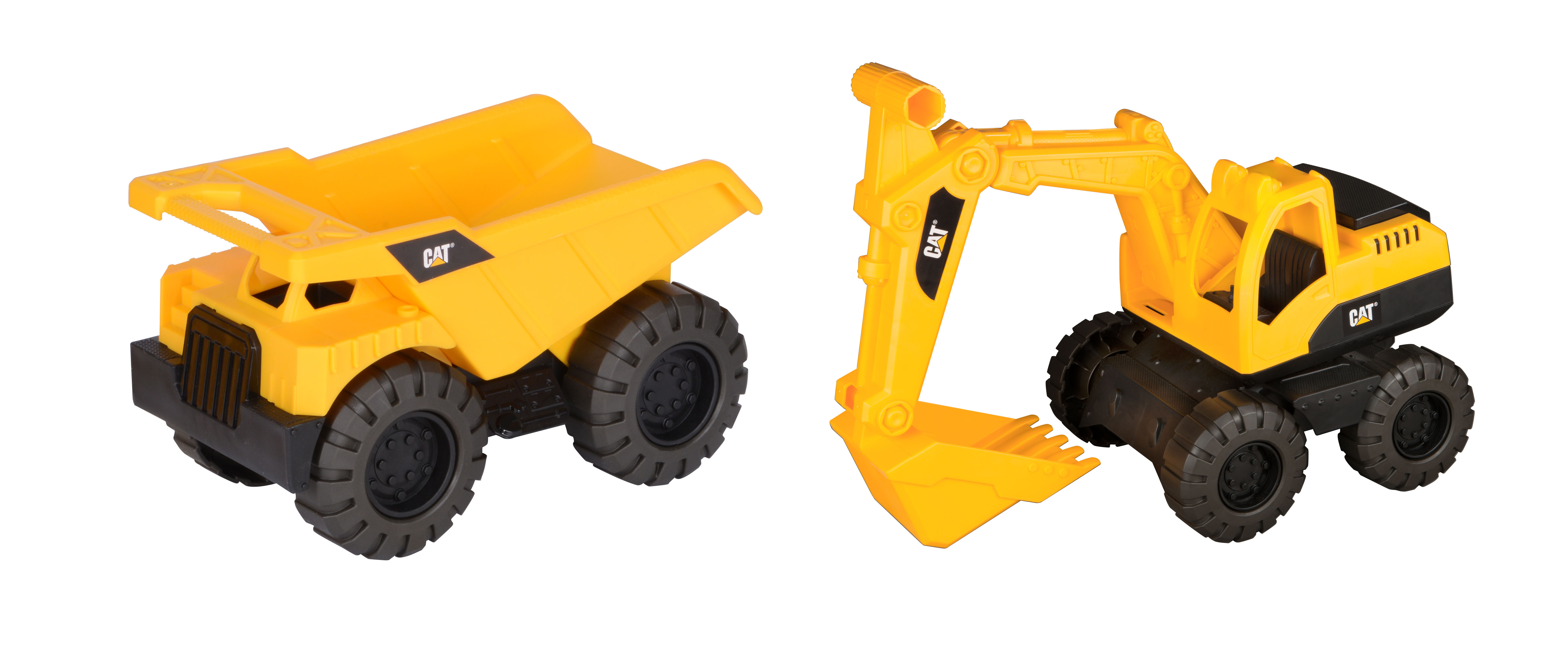 Caterpillar Tough Tracks Mini Worker Dump Truck and Excavator 2 pack by Toy State International Limited