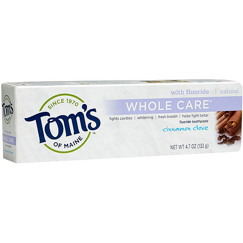 Tom's of Maine Whole Care Cinnamon Clove Natural Fluoride Toothpaste, 4.7 oz