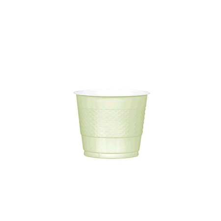 party ready reusOle plastic cups tOleware, leaf green, plastic , 9 ounces, pack of 20 (Green Plastic Cups)