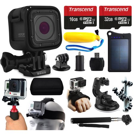 gopro hero5 session hd action camera chdhs 501 48gb essetial accessories. Black Bedroom Furniture Sets. Home Design Ideas