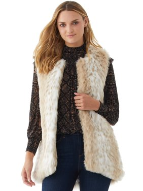 Scoop Women's Faux Fur Vest
