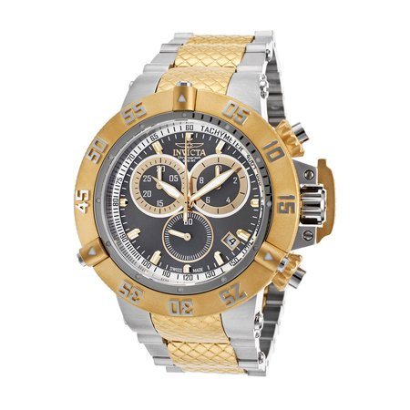 Gold Chronograph Swiss - Men's Subaqua 15948 Gold Stainless-Steel Swiss Chronograph Diving Watch