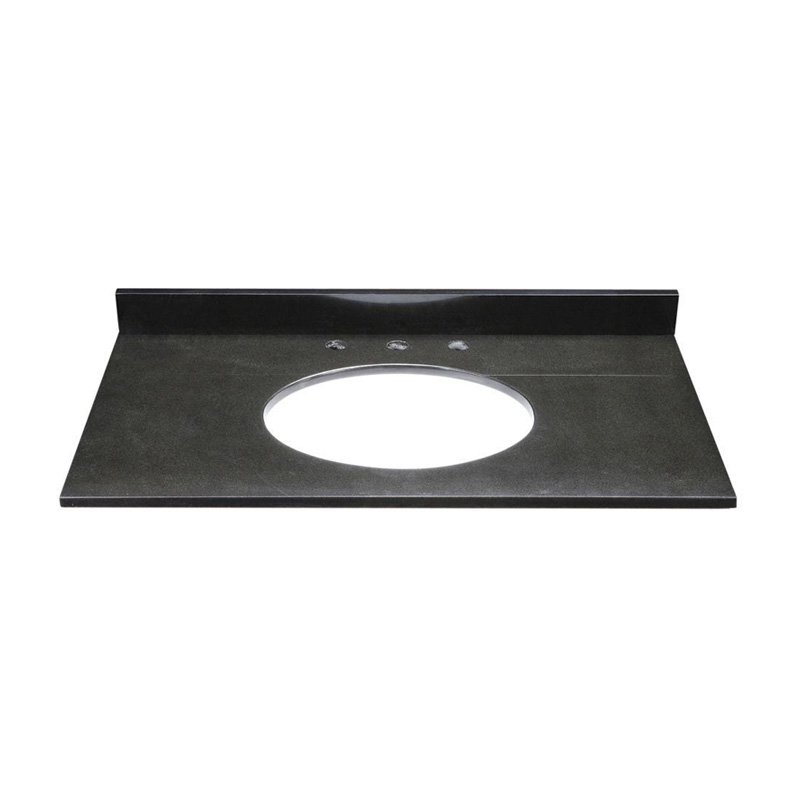 DecoLav 37W x 22D in. Jordan Granite Vanity Top, Black