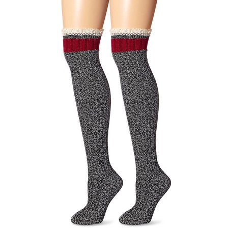 K Bell Pretty Tomboy Knee High Boot Socks - One Size w/ Crochet Cotton - Crochet Boot Socks