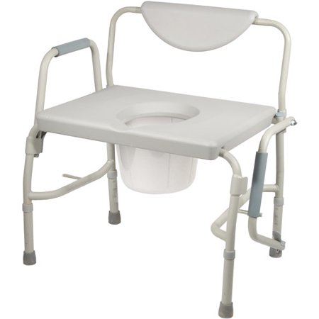 Drive Medical Bariatric Drop Arm Bedside Commode Chair - Drive Medical Bariatric Drop Arm Bedside Commode Chair - Walmart.com