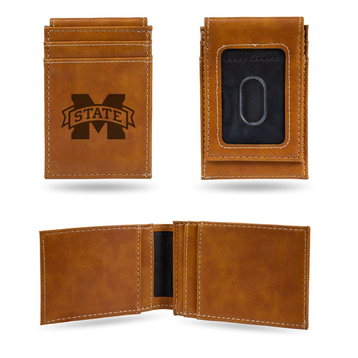 Mississippi State Bulldogs NCAA Rico Industries  Laser Engraved Billfold Wallet