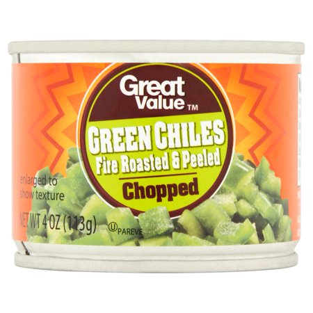 ((6 Pack) Great Value Chopped Fire Roasted & Peeled Green Chiles, 4 Oz)