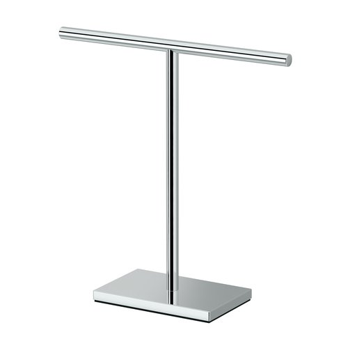 Gatco Rectangle Base T-Shape Countertop Towel Stand by Gatco