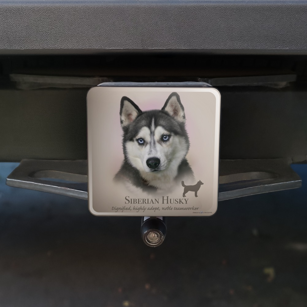 Siberian Husky Dog Selfie Tow Trailer Hitch Cover Plug Insert