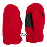 Toddler Fleece Insulated Mittens for Boys Girls with Velcro Wrist Clips