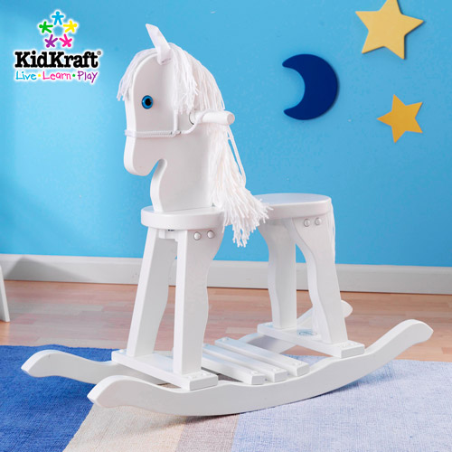 KidKraft Wooden Derby Rocking Horse, White