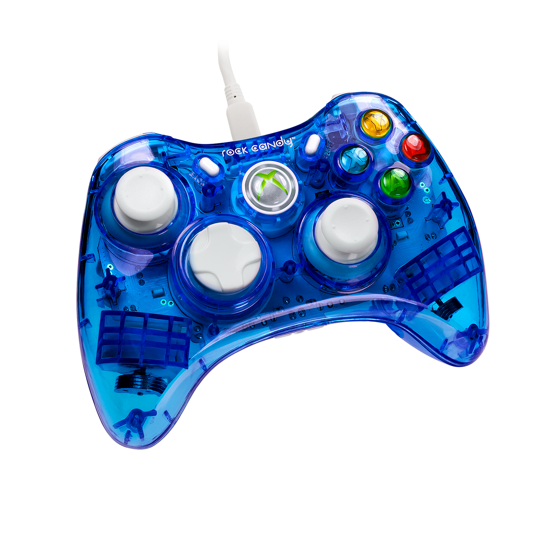 Pdp Rock Candy Xbox 360 Wired Controller Blueberry Boom 037 010 Na Bl Walmart Com Walmart Com