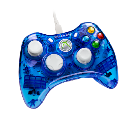 PDP Rock Candy Xbox 360 Wired Controller, Blueberry Boom, 037-010-NA-BL (Xbox 360 Gray Controller)