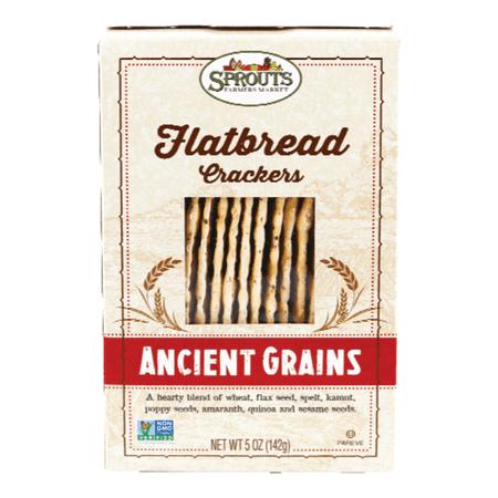 Sprouts Ancient Grains Flatbread Crackers, 5 (Kracker Flatbread)