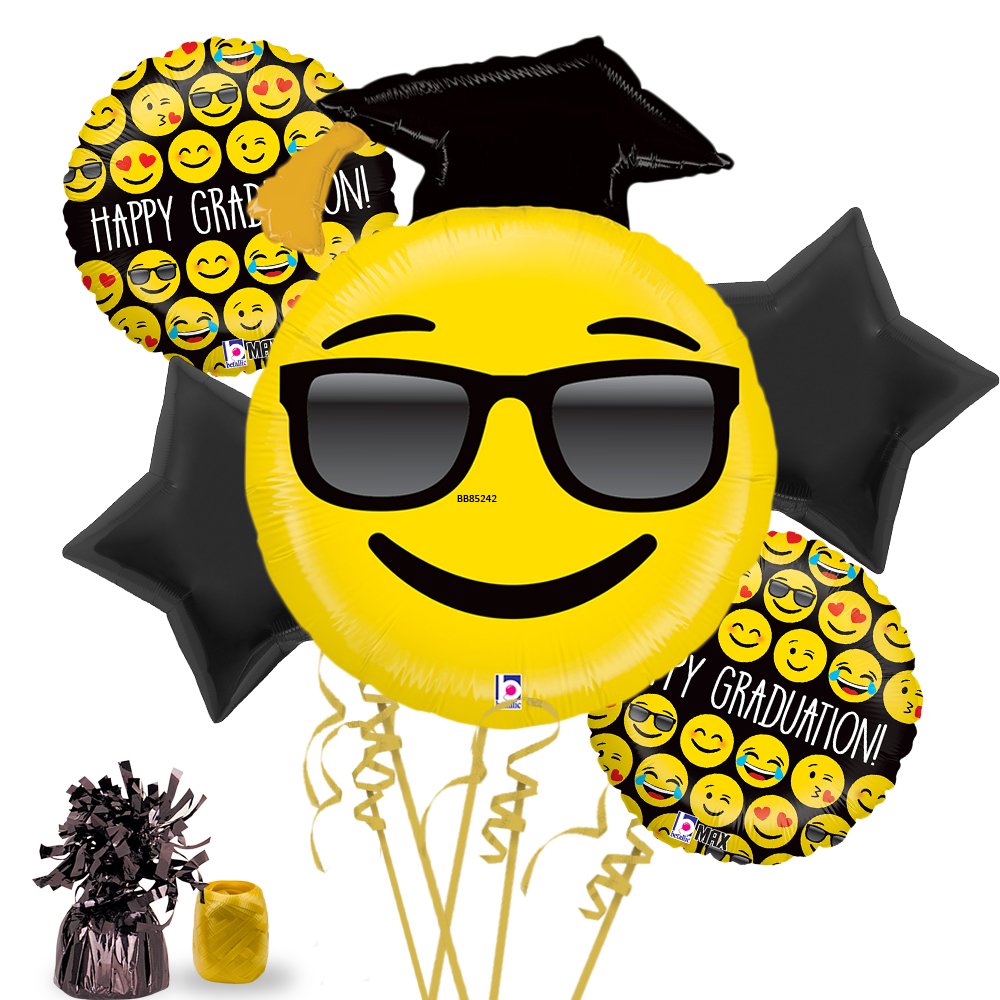 Emoji Graduation Balloon Bouquet Kit