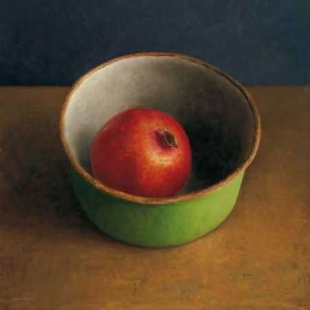 Green bowl II Stretched Canvas - Jos van Riswick (12 x (Two Light Center Bowl)