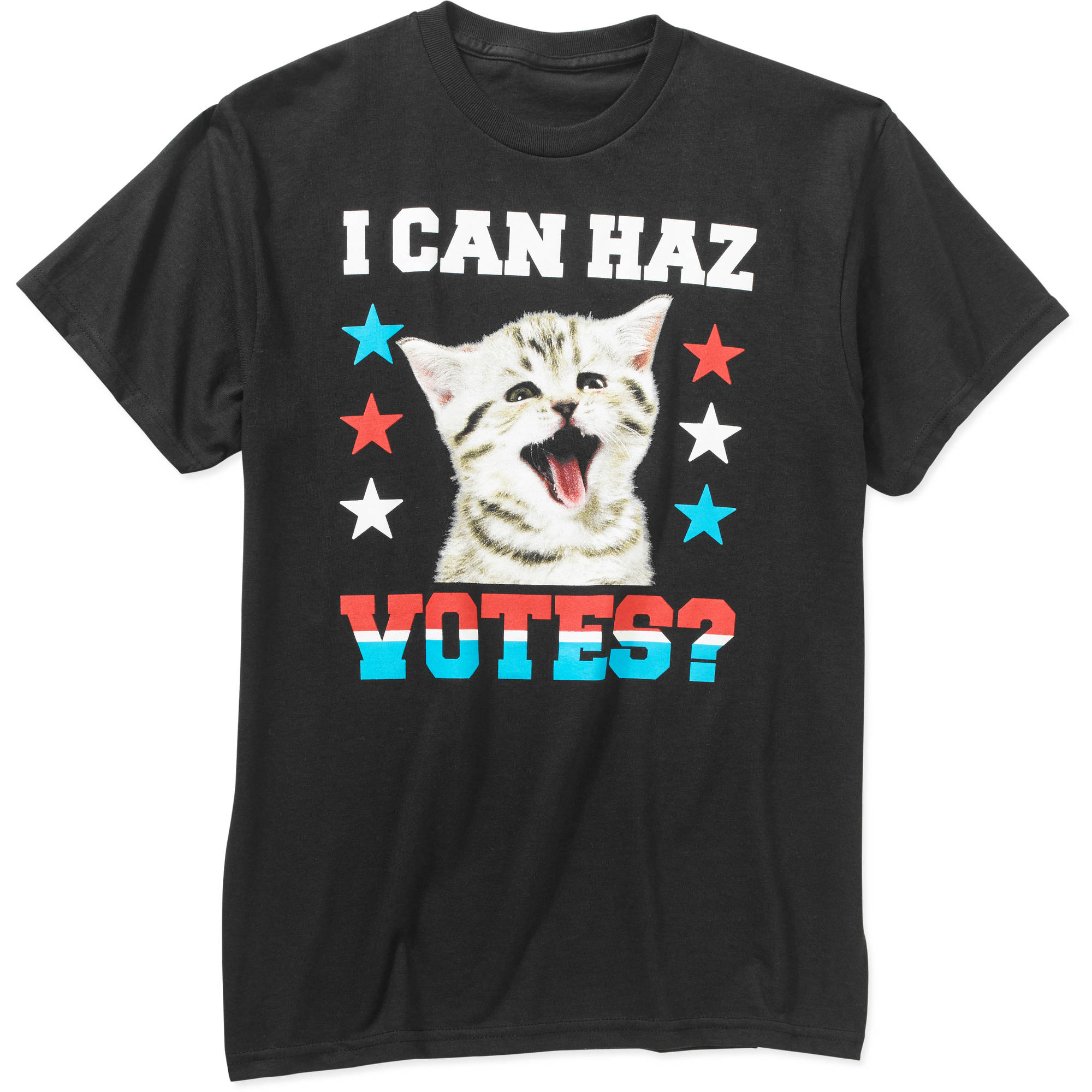I Can Haz Votes Big Men's Cat Graphic Tee