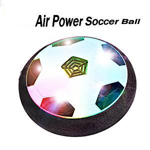 Air Power Soccer Children Toys Training Football Indoor Outdoor Disk Hover Ball Game with Foam Bumpers and Light Up](Soccer Toys)