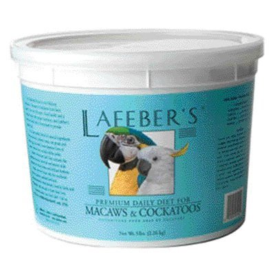 Lafebers Daily Diet - Lafeber's® Premium Daily Diet Macaw & Cockatoo Food, 5-Lb